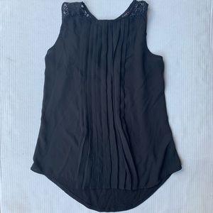 HeartSoul Black Lace Back Tank Top size Small